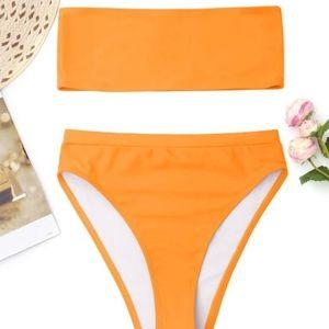 ZAFUL strapless high rise bottom bikini